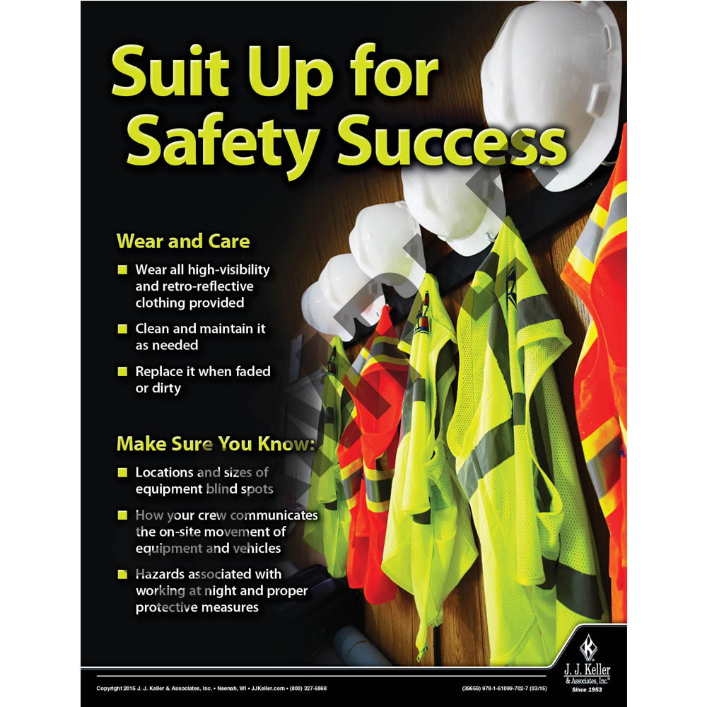 Suit Up For Safety Success - Construction Safety Poster (08695)