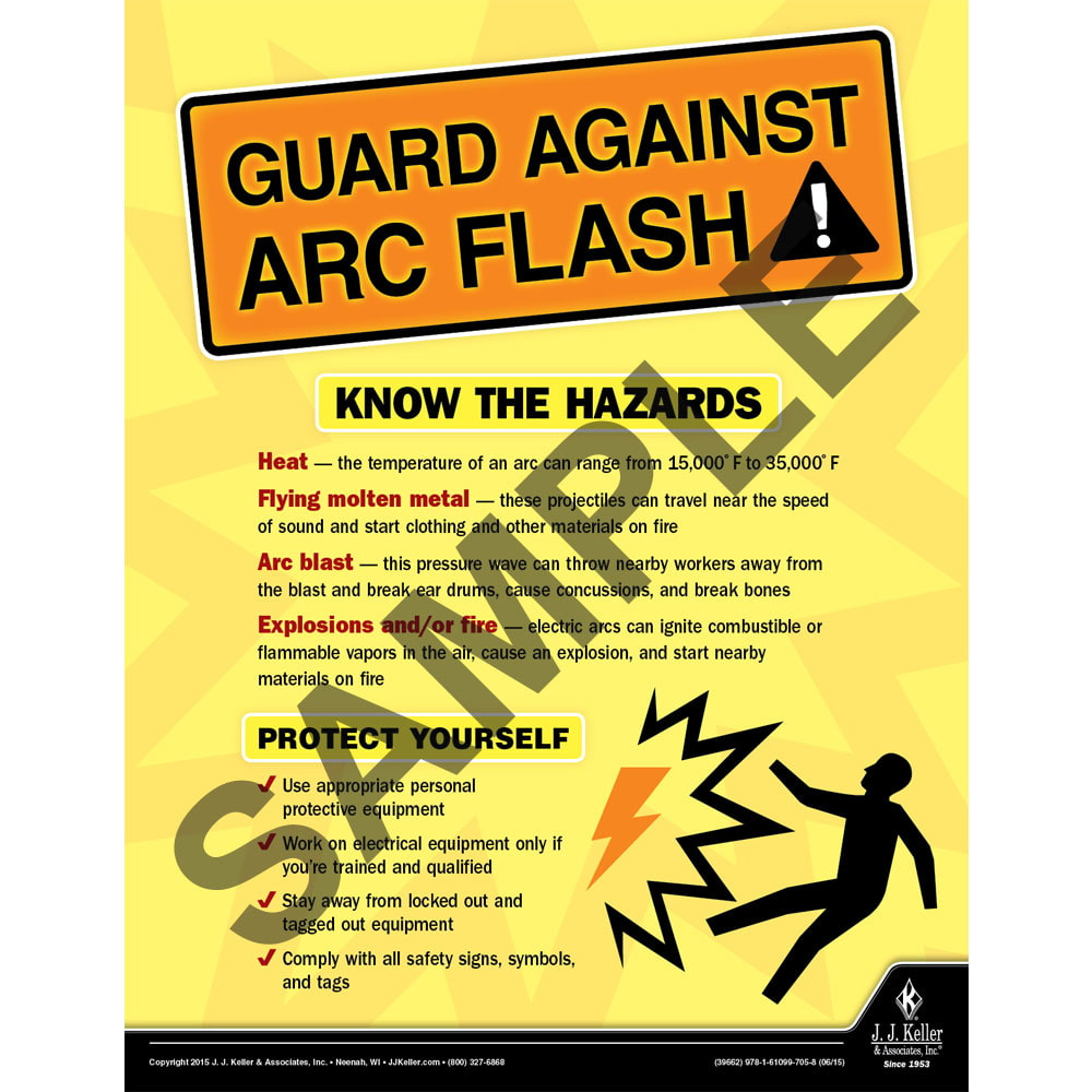 Guard Against ARC Flash - Construction Safety Poster (08698)