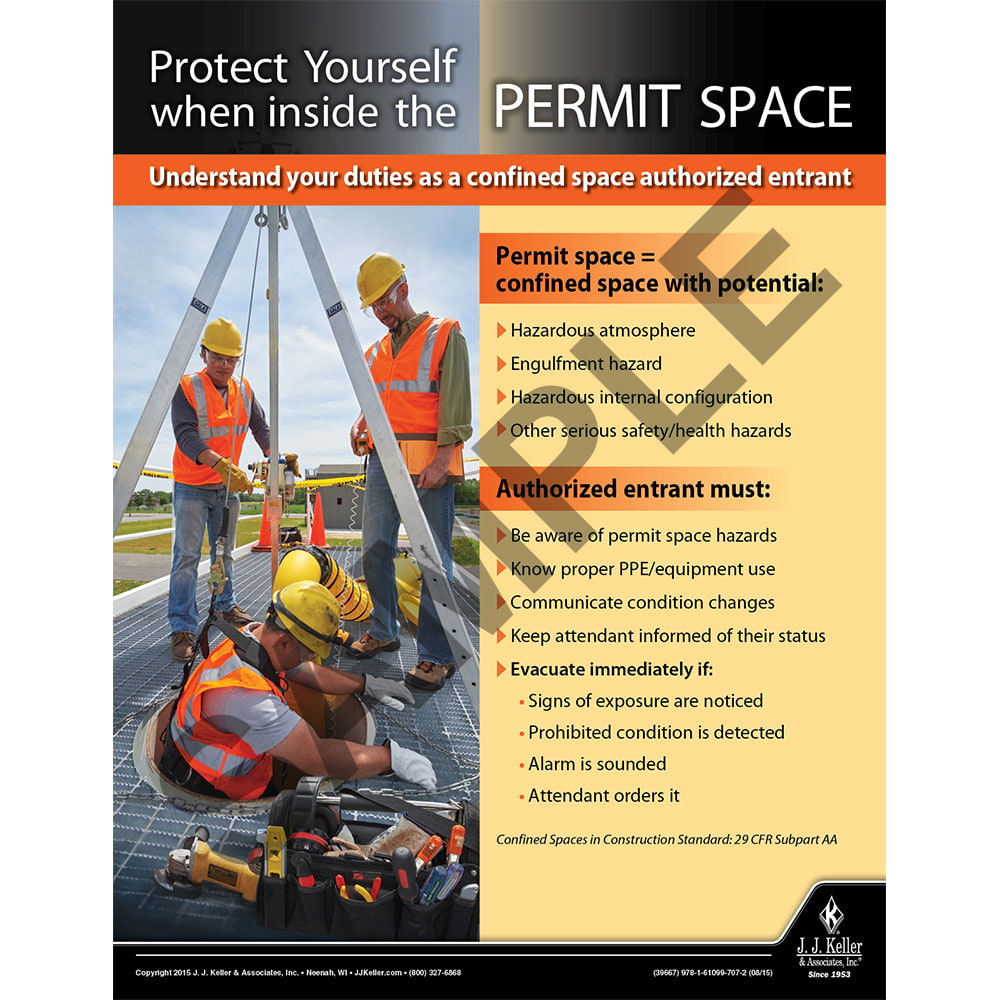 Permit Space - Construction Safety Poster (08700)