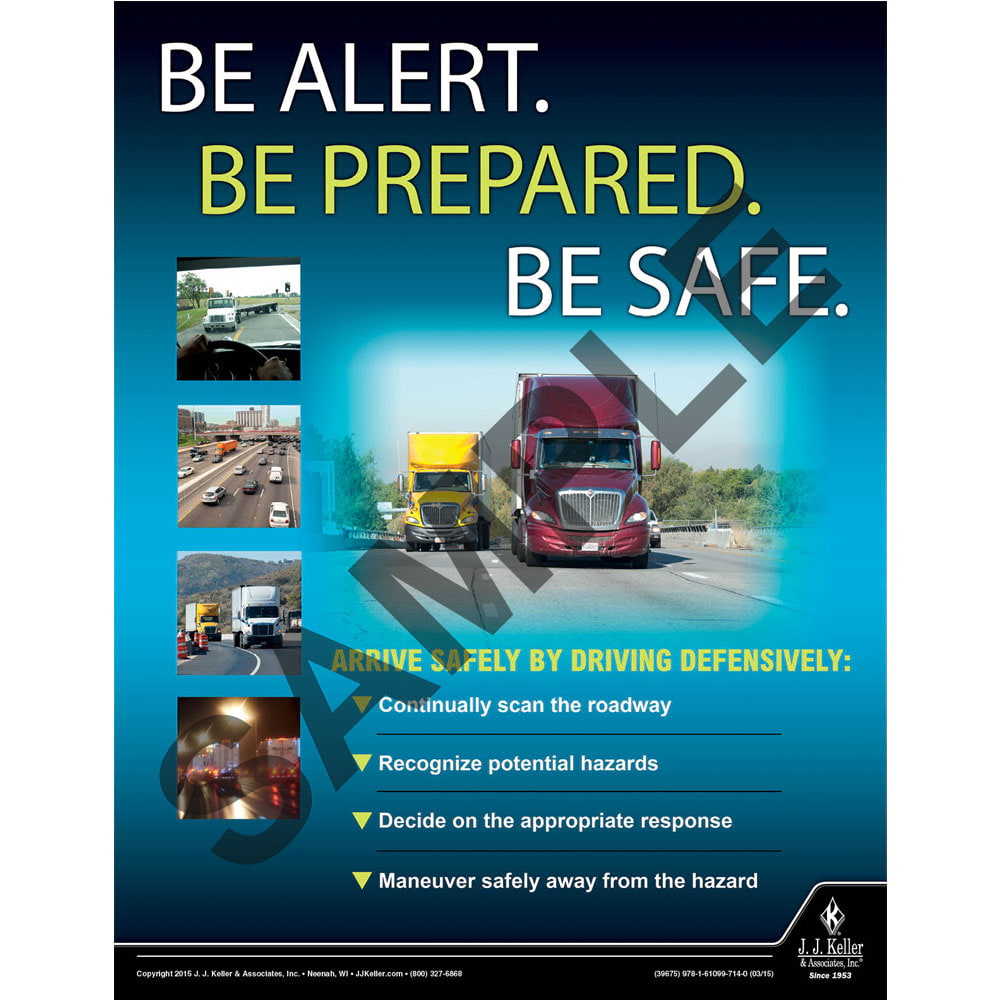 Be Safe - Driver Awareness Safety Poster (08707)
