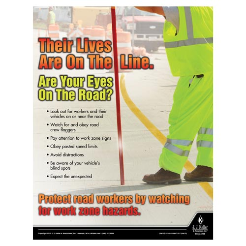 On The Line - Driver Awareness Safety Poster (08708)