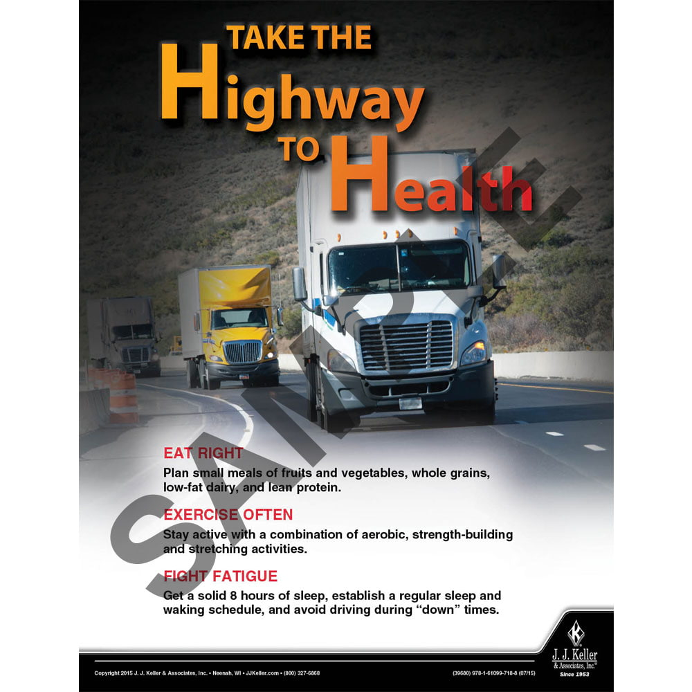 Take The Highway To Health - Driver Awareness Safety Poster (08711)