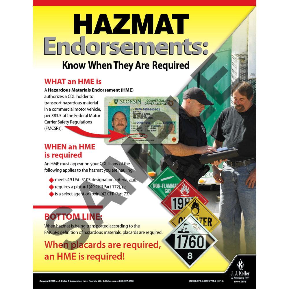 Hazmat Endorsements - Hazmat Transportation Poster (08717)