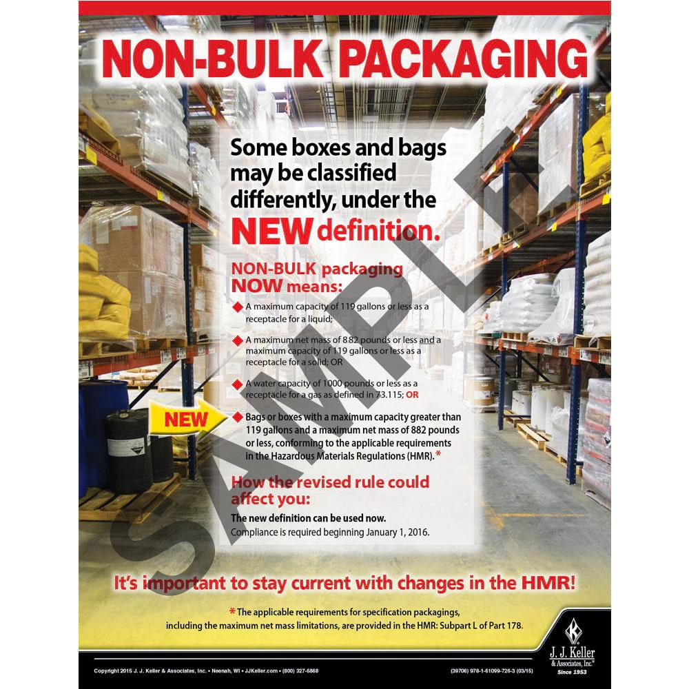 Non-Bulk Packaging - Hazmat Transportation Poster (08719)