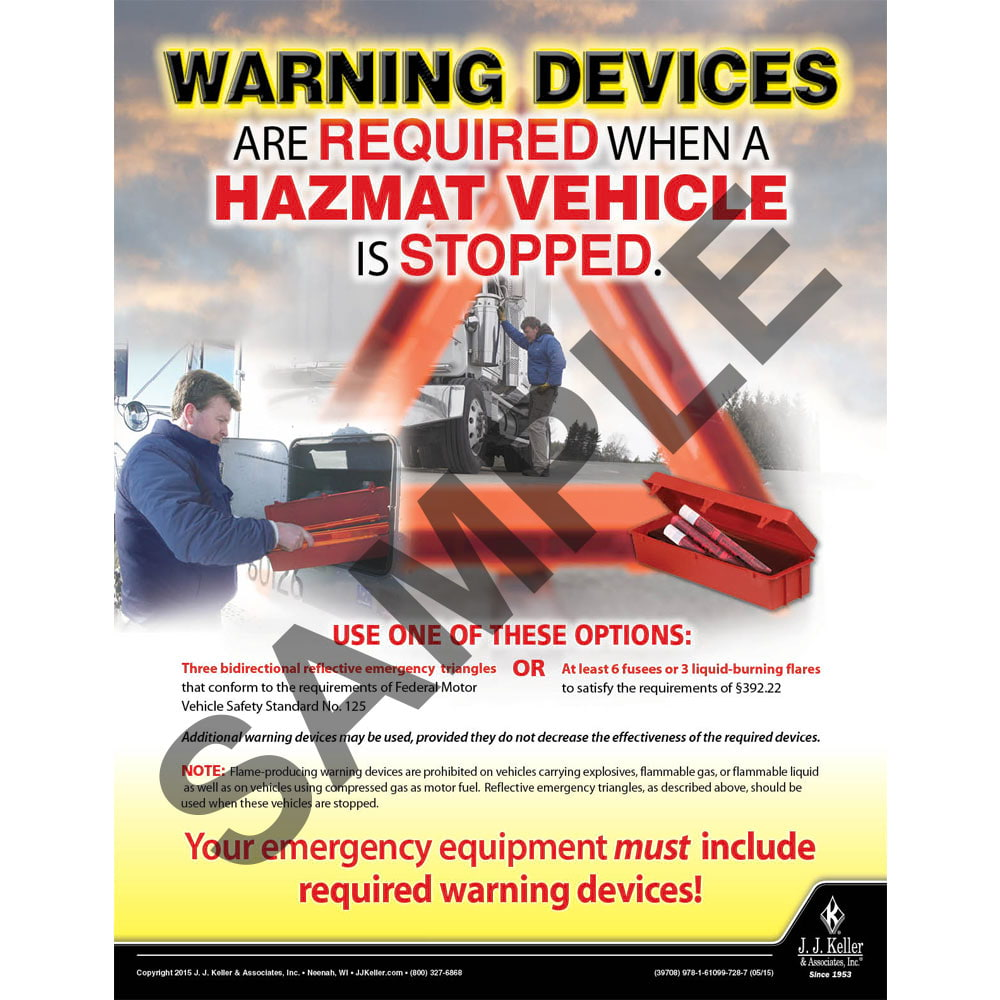 Hazmat Vehicle - Hazmat Transportation Poster (08721)