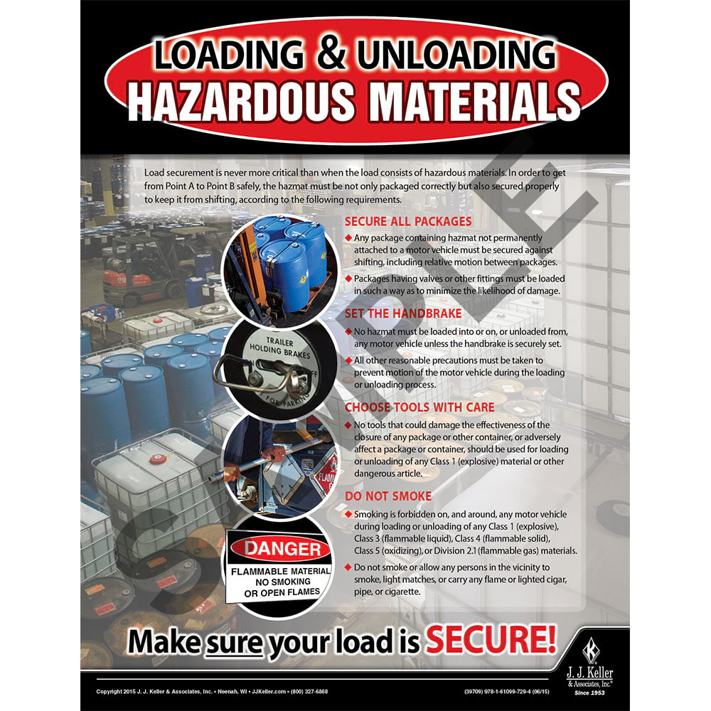 Hazardous Materials - Hazmat Transportation Poster (08722)