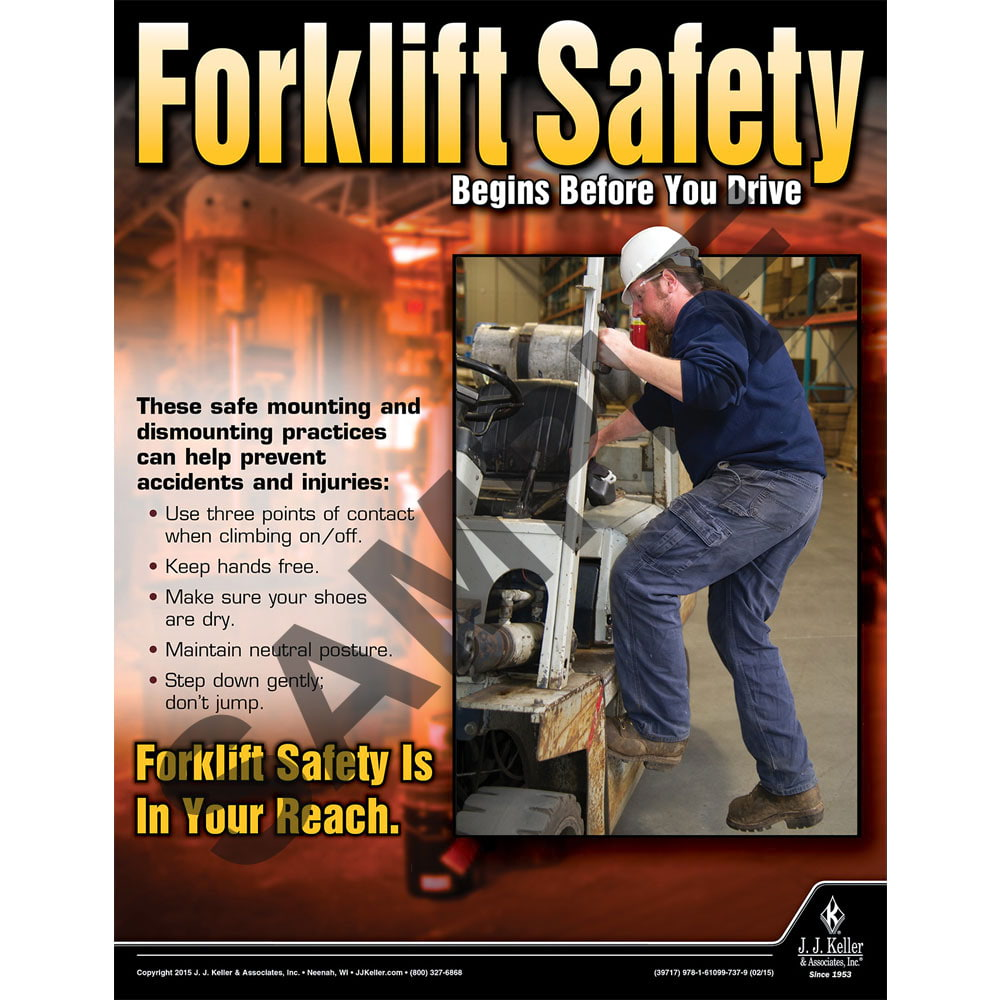 Forklift Safety - Workplace Safety Advisor Poster (08730)