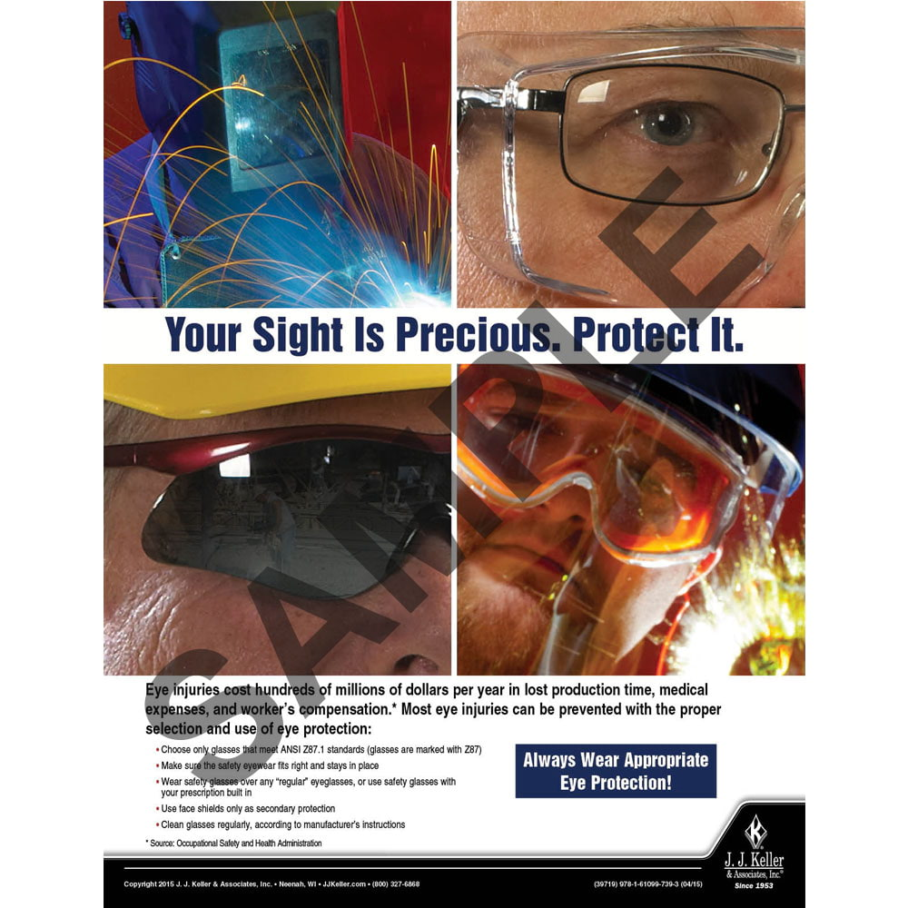 Protect Your Sight - Workplace Safety Advisor Poster (08732)