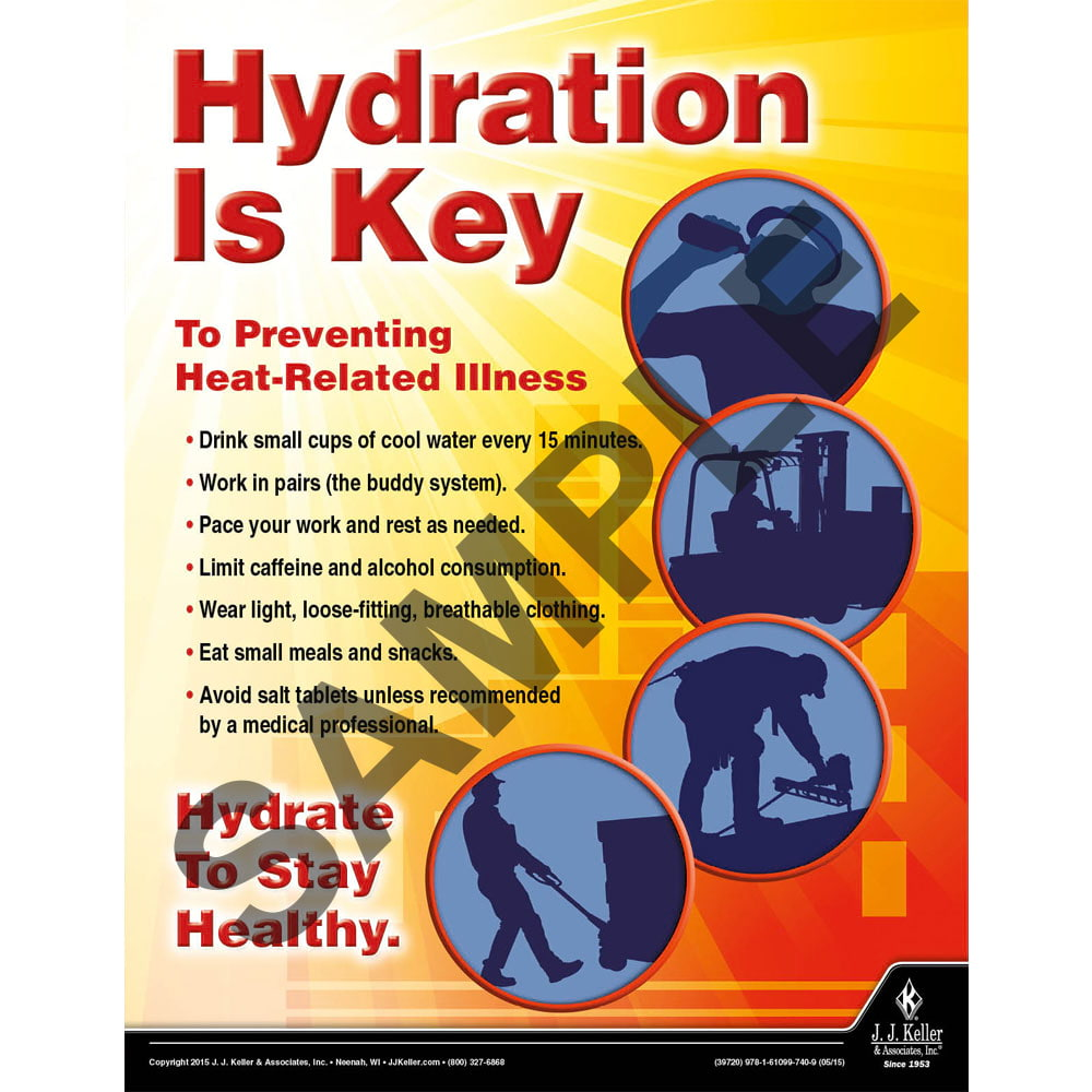Hydration is Key - Workplace Safety Advisor Poster (08733)