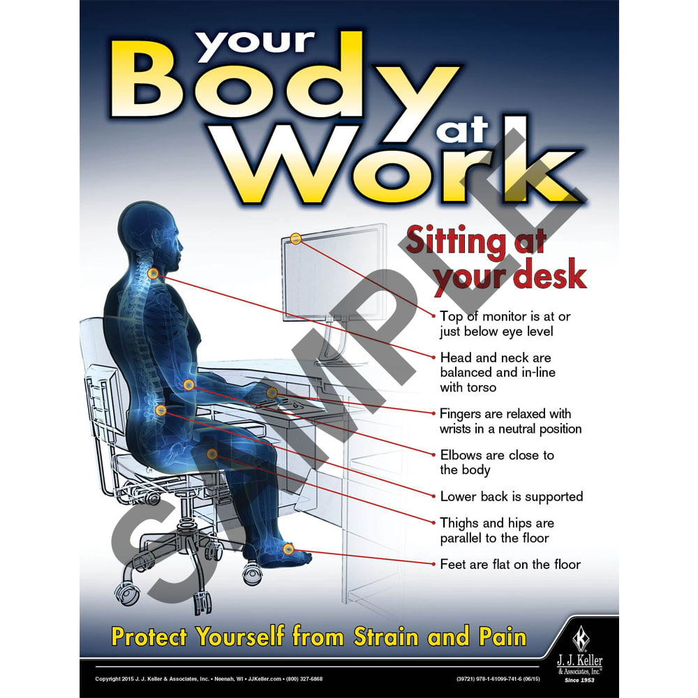 Your Body At Work - Workplace Safety Advisor Poster (08734)