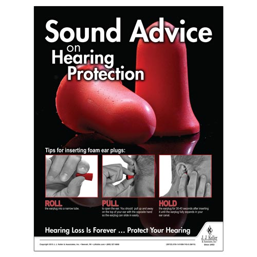 Hearing Protection - Workplace Safety Advisor Poster (08736)