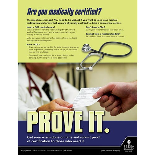 Medically Certified - Motor Carrier Safety Poster (08744)