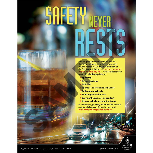 Safety Never Rest - Motor Carrier Safety Poster (08746)