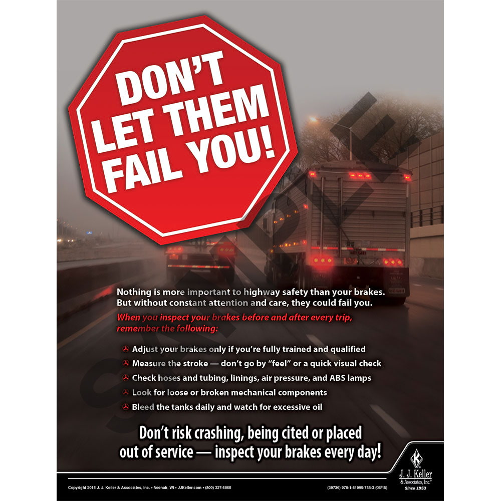 Brakes - Motor Carrier Safety Poster (08748)