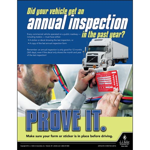 Annual Inspection - Motor Carrier Safety Poster (08749)