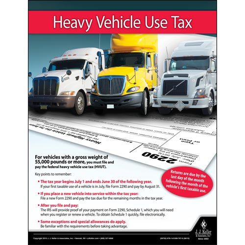 Heavy Vehicle Use Tax Motor Carrier Safety Poster