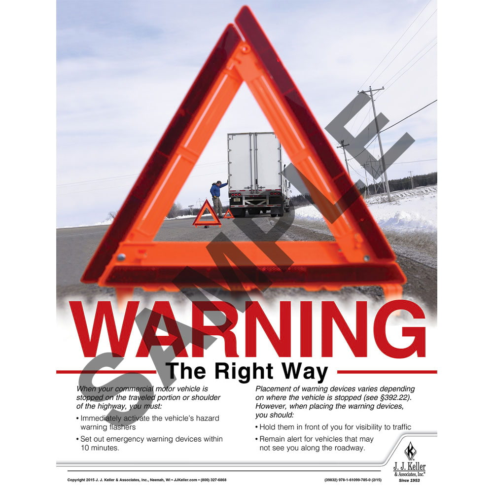 Warning The Right Way - Transportation Safety Risk Poster (08766)