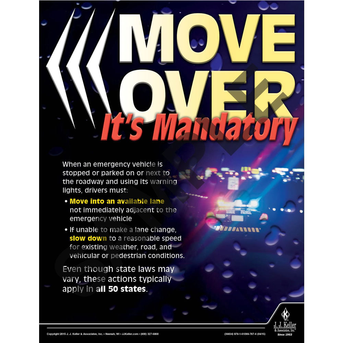 Move Over - Transportation Safety Risk Poster (08768)