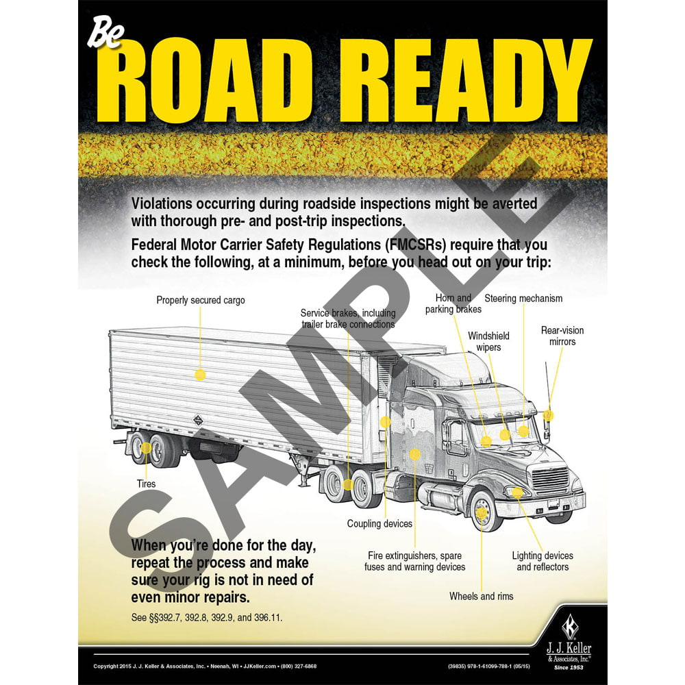 Road Ready - Transport Safety Risk Poster (08769)