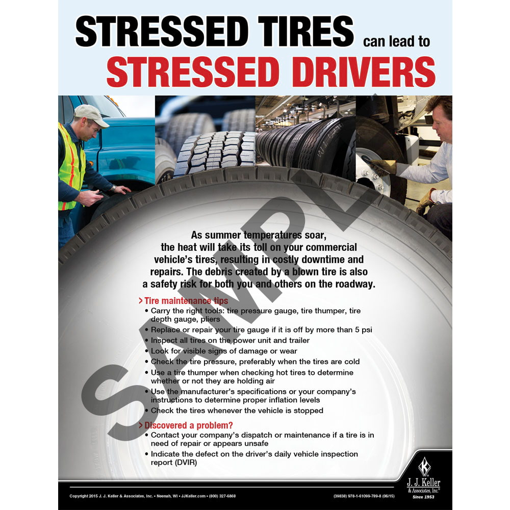 Stressed Tires - Transportation Safety Risk Poster (08770)