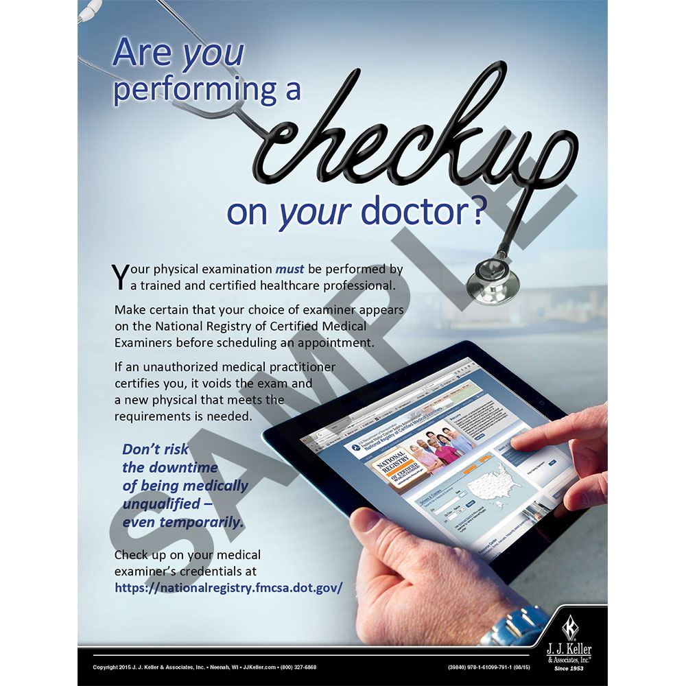 Checkup on your Doctor - Transportation Safety Risk Poster (08772)