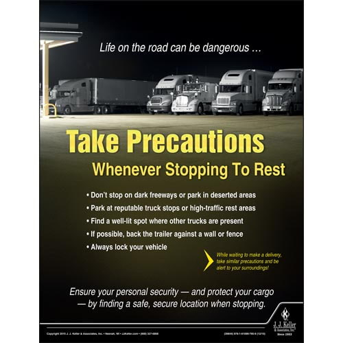 Take Precautions - Transportation Safety Risk Poster (08776)