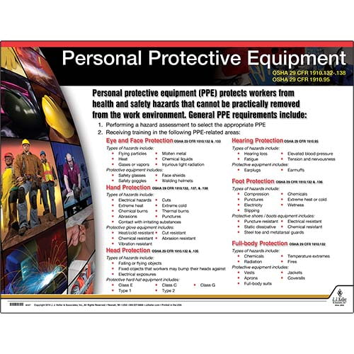 Personal Protective Equipment Instructional Chart (01786)