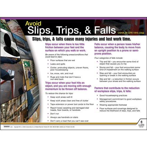 Slips, Trips & Falls Instructional Chart (01785)