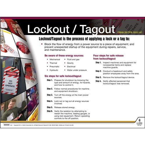 Lockout Tagout Instructional Chart (01784)