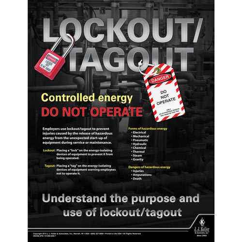 Lockout/Tagout: Put a Lock on Hazardous Energy - Awareness Poster (08685)