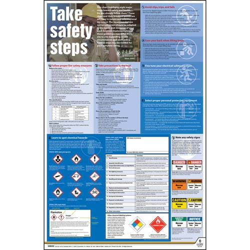 Federal Safety Poster - Take Safety Steps (08007)