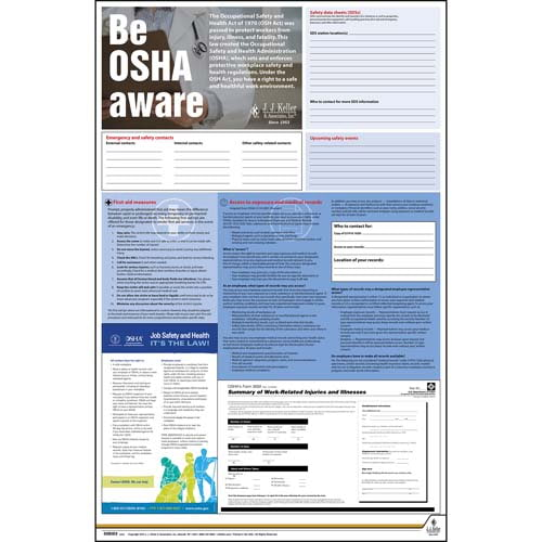 Federal Safety Poster - Be OSHA Aware (08009)