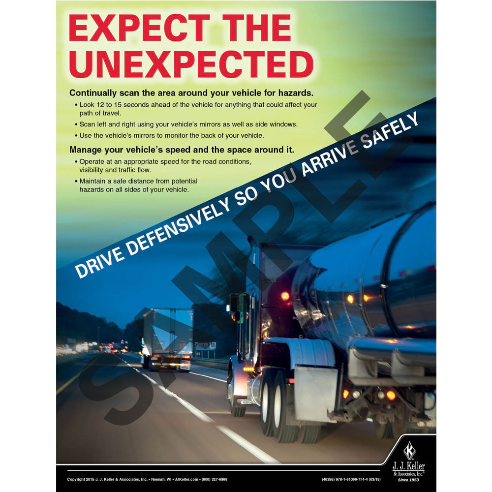 Expect The Unexpected - Transportation Safety Poster (08779)