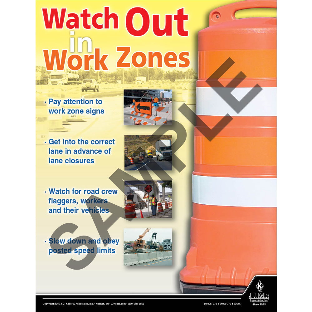 Work Zones - Transportation Safety Poster (08780)