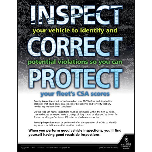 Inspect - Correct - Protect - Transportation Safety Poster (08781)
