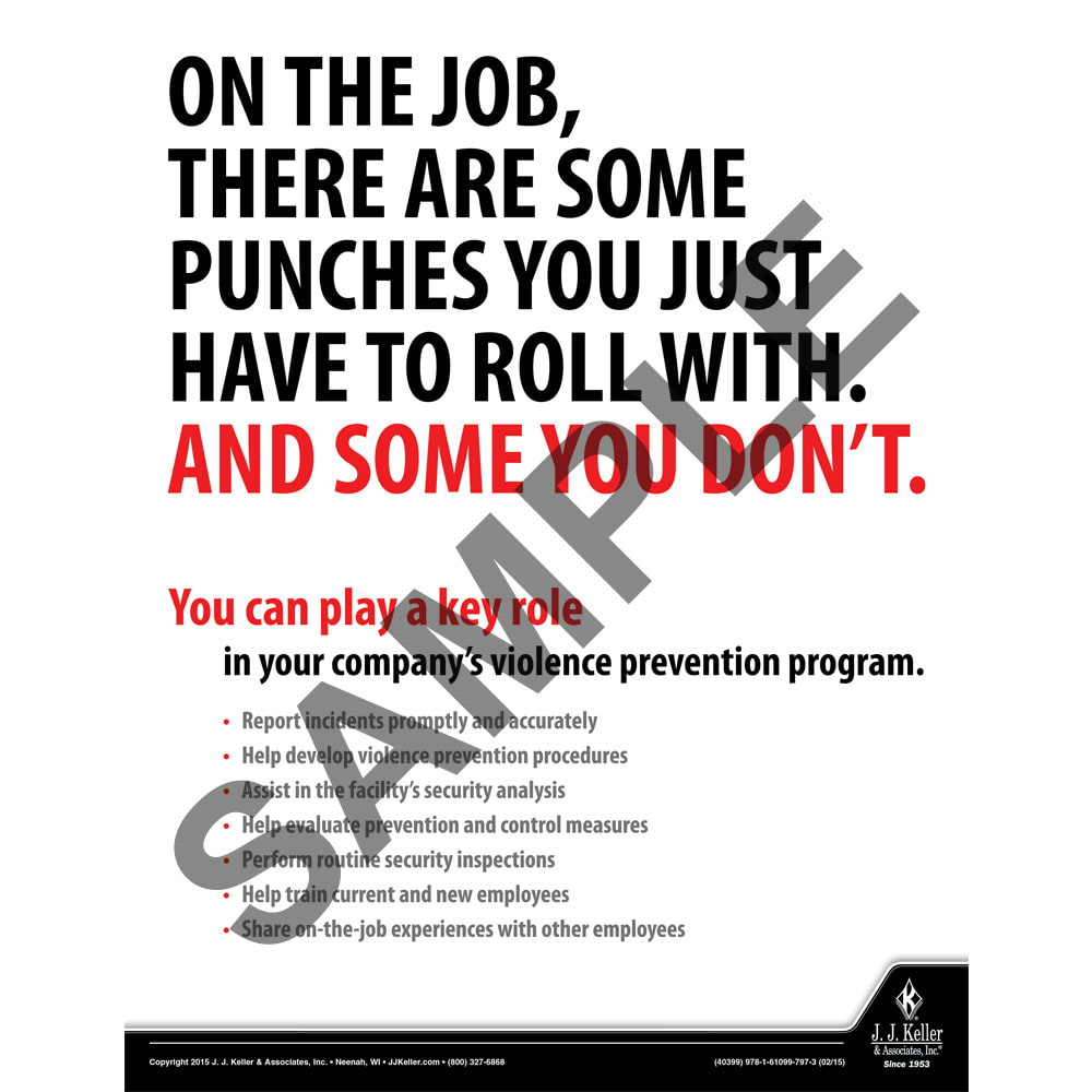 On The Job - Workplace Safety Training Poster (08790)