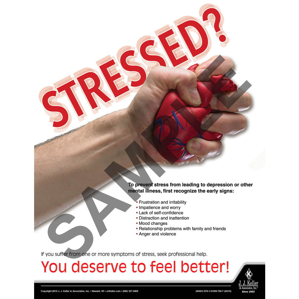 Stressed - Workplace Safety Training Poster (08792)