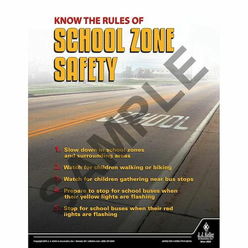 School Zone Safety - Transportation Safety Poster (08784)