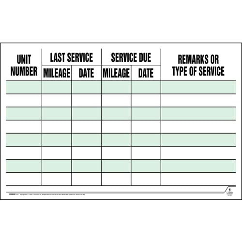 Maintenance Wall Chart (08858)