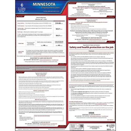 2019 Minnesota & Federal Labor Law Posters