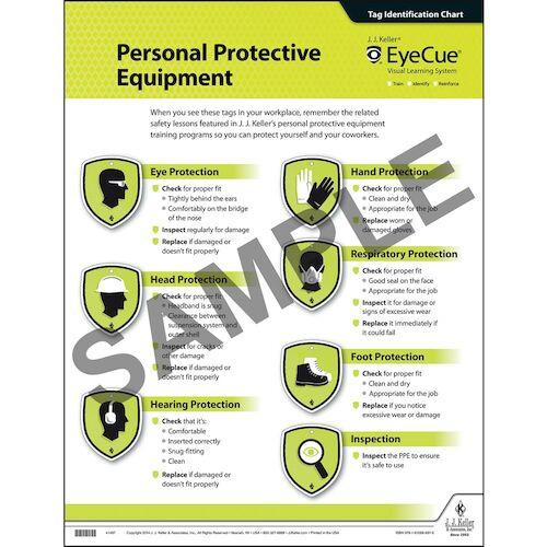 EyeCue® PPE Laminated Poster (09069)
