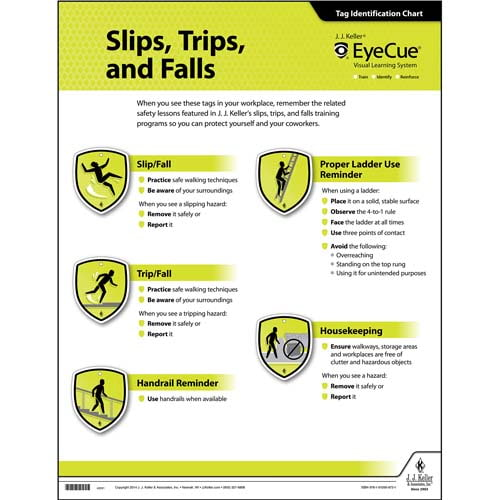 EyeCue® Slips, Trips & Falls Laminated Poster (08985)