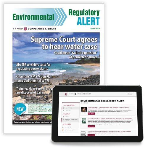 Environmental Regulatory Alert Newsletter (02796)