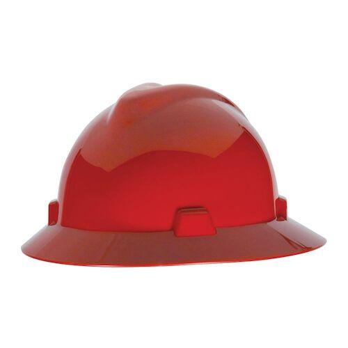 MSA V-Gard® Fas-Trac Ratchet Suspension System Hard Hat