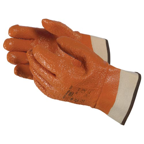 Ansell Monkey Grip™ Orange Vinyl Raised Finish Safety Cuff Gloves (06547)