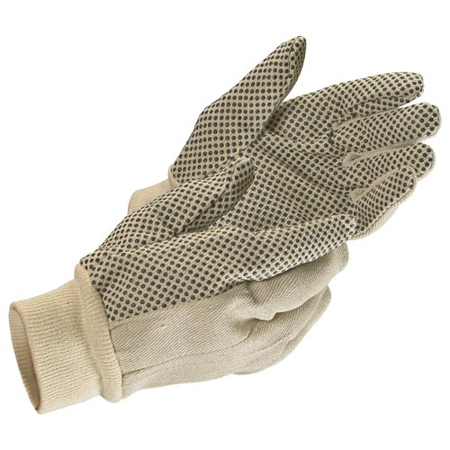 MCR Safety Canvas PVC Dot Gloves (06548)