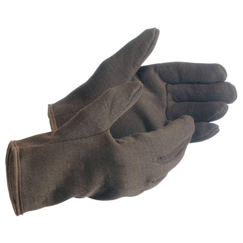 MCR Safety Brown Jersey Gloves - Lined (06550)