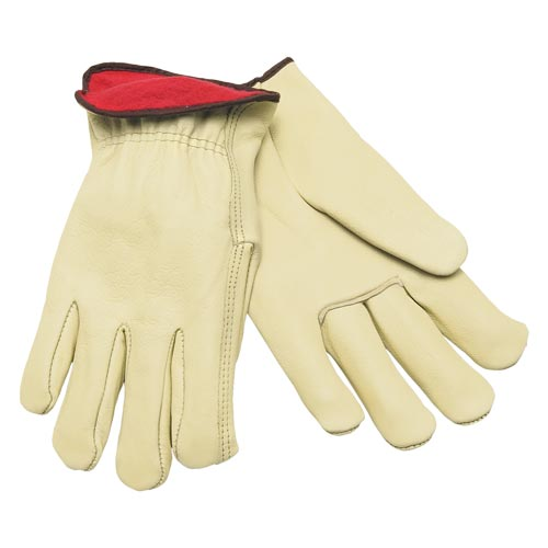 MCR Safety Industry Grade Cowhide Fleece-Lined Leather Gloves (06568)