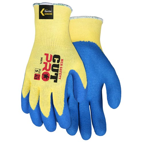 MCR Safety Flextuff Latex Palm Kevlar® String Knit Gloves (06570)
