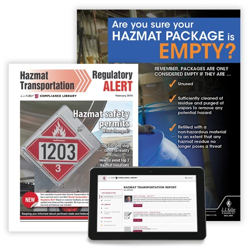 Hazmat Transportation Regulatory Alert Newsletter (00006)